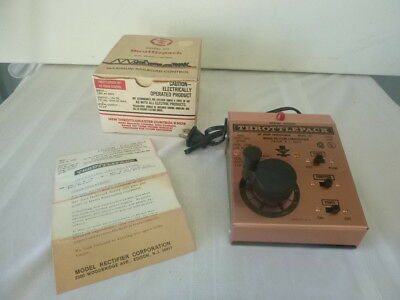Vintage MRC Throttlepack HO Model Train Power Pack Model 501 w Box Made In USA