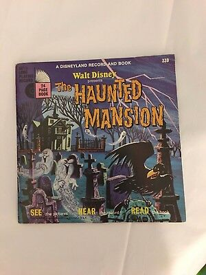 1970 Walt Disney THE HAUNTED MANSION Disneyland 33 1/3 LP Record and Book 339