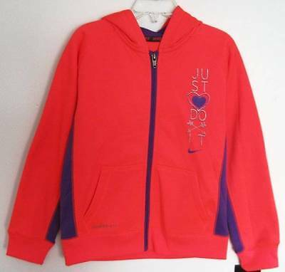 Nike Girls Hyper Punch Just Do It Therma-Fit Hoodie (4) NWT