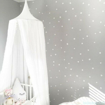 Kids Baby Bedding Round Dome Bed Canopy Netting Bedcover Mosquito Curtain QH68