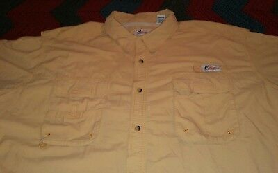 World Wide Sportsman Men's Shirt 4XL 4X Fishing Vented Short Sleeve Peach Color