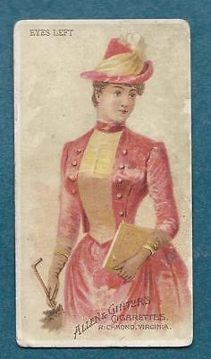 Allen & Ginter Cigarettes Military Tobacco Card Parasol Drill Eyes Left