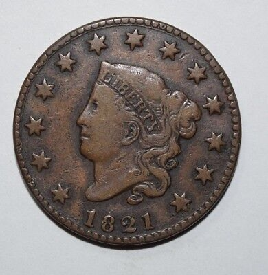 1821 Coronet Head Large Cent   1M