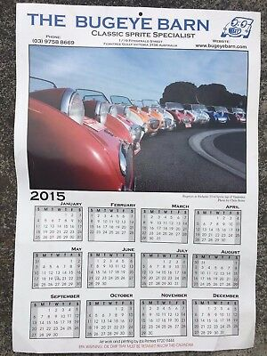 Calendar 2015 - The Bugeye Barn - Classic Sprite Specialist - Motor Cars