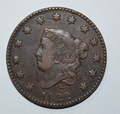 1822 Coronet Head Large Cent   1N