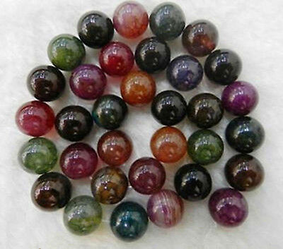 AAA 10mm Genuine Natural Rainbow Dragon Vein Agate Gemstone Round Beads 14''