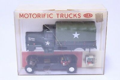 Nice Vintage Ideal Motorific Trucks Military Troop Transport Complete In Box