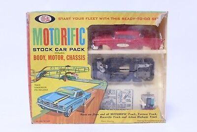 Nice Vintage Ideal Motorific Stock Car Pack '57 Chevy Bel Air Set W/ Box