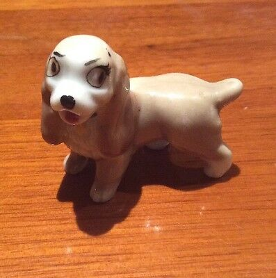 Wade Whimsies Lady & The Tramp Whimsy Dog Figure Disney Spaniel