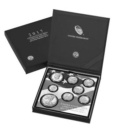 IN-HAND 2017 United States Mint Limited Edition 8pc Silver Proof Set