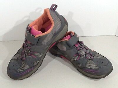 MERRELL Youth Girls Trail Chaser Size 5.5M Gray Athletic Hiking Shoes Q2-116*