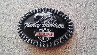 Harley Davidson Belt Buckle..brand new in packet ..FREE SCRATCH LOTTERY TICKET