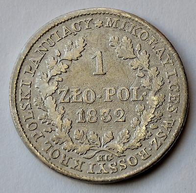 Poland 1 Zloty, 1832, under Imperial Russia