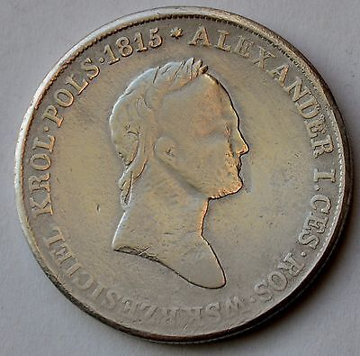 Poland 5 Zlotych, 1830 K.G., under Imperial Russia, king Alexander I