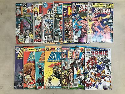 Kull Beowulf Kazar Etc Bronze Age Marvel Comic Book Mixed Lot of 15 Estate Find