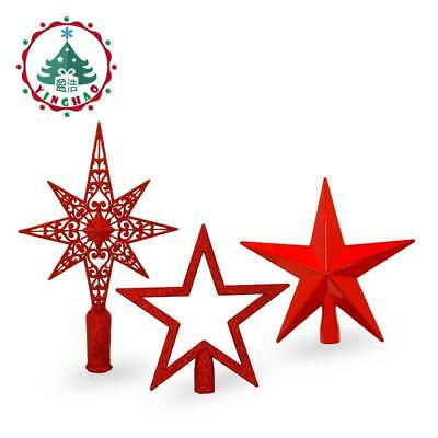 Inhoo Red Christmas Tree Star Top Decorations For Home House Table Topper Decor