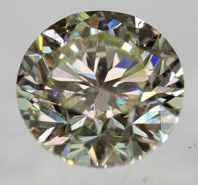 Certified 0.57 Carat K VS1 Round Brilliant Enhanced Natural Loose Diamond 5.08mm