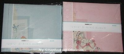 "Kaisercraft 12x12"" D-Ring PEEK-A-BOO Album +10 Sheets Baby (You choose) KAISER"