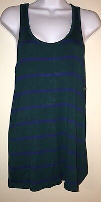 Smartset Green and Blue Striped Tank Top, Size Small, New With Tags