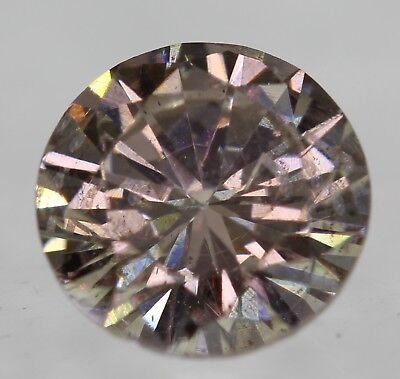 Cert 0.67 Intense Brown SI1 Round Brilliant Enhanced Natural Diamond 5.65mm 3VG
