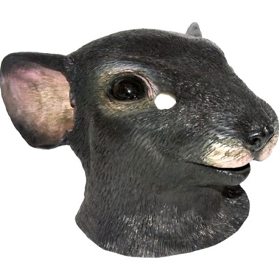 Mouse Head Mask Halloween Costume Accessory Pull Over One Size Adult and Teens