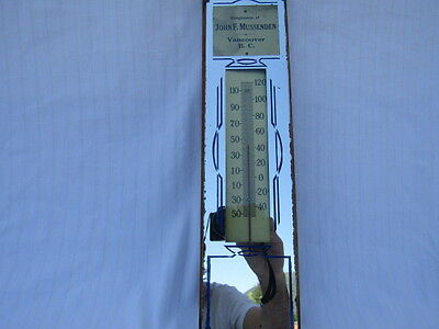 Vintage Advertising Thermometer, John F. Mussenden