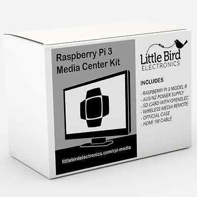 RASPBERRY PI 3 Kodi Media Streaming Kit Case 2 5A PWR Switch