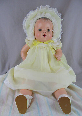 "Composition & Cloth 23"" 1930's-40's Baby Doll Beautifully Restored!"