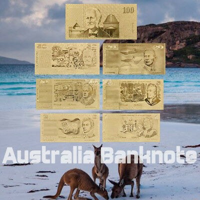 WR 24K Gold Australia Banknote 1/2/5/10/20/50/100 Pound Note Set Gifts for Him 7