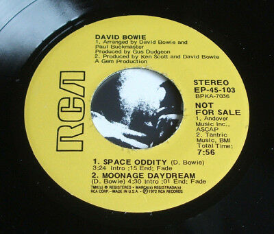 David Bowie ‎ Space Oddity Moonage Daydream Life On Mars? It Ain't Easy vinyl 7""