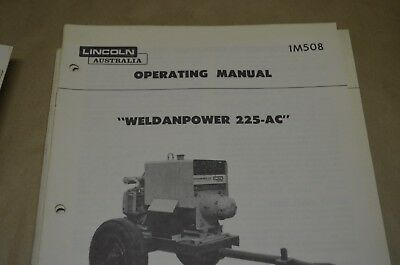 Lincoln Operating Manual - Weldandpower 225/ac - Im508