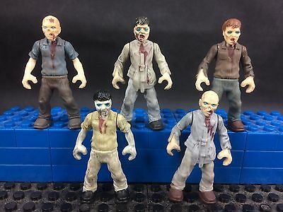 5x  Mega Bloks Zombies Outbreak the Walking Dead loose army builder