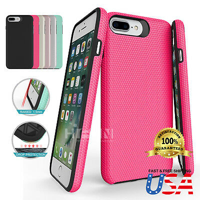 Hybrid Rugged Protective Shockproof Heavy Duty Case Cover Fits Apple iPhone