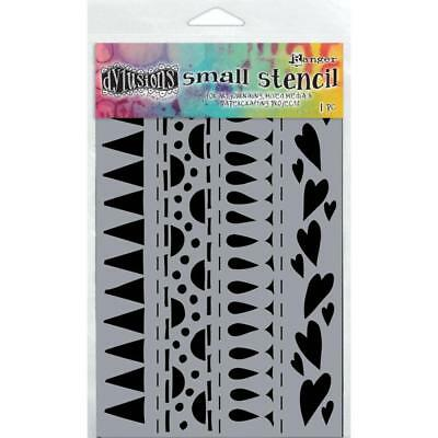 NEW Ranger,  Dyan Reaveley's Dylusions Stencils Heart Border Small, 5 x 8in