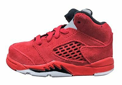 Jordan Retro 5 Red Suede University Red/Black (TD) Toddler 440890 602