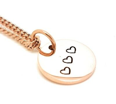 Rose Gold Disk Necklace, small circle, minimalist pendant, love heart, bridal