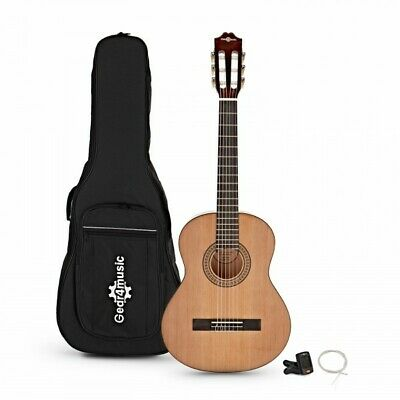 Deluxe Junior 1/2 Classical Guitar Pack Natural by Gear4music