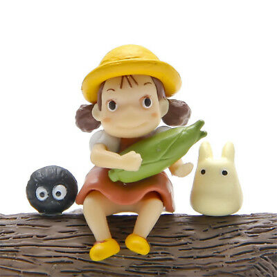 3pcs Anime Studio Ghibli My Neighbor Totoro Mini Figures Toy Display Yard Decor