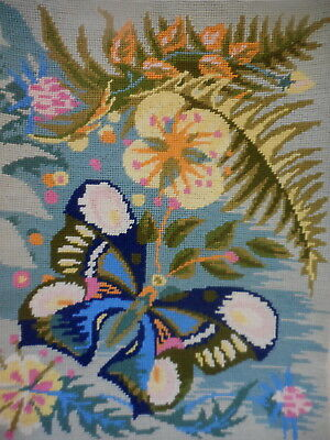 Tapestry  Completed Unframed Royal Paris 178 Butterfly