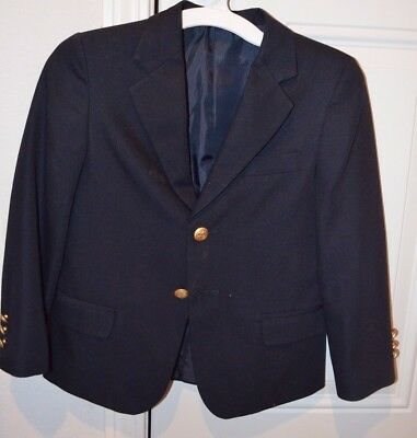 George Youth navy suit coat size 6 boy 2 button blazer School uniform Sunday