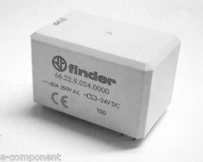 RELAY' FINDER 66.22.9.024.0000 Coil 24Vdc - 2 exchange 30A printed circuit