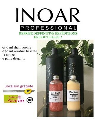 Lissage Brésilien Inoar Marroquino 250 ml x2 kit complet
