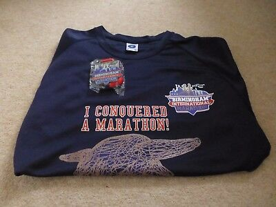 Birmingham Marathon 2017 Official Finishers Medal and T-Shirt (Size Small)