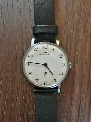 Mens, Vintage and Rare Jaquet Droz Swiss Watch - Keeps Good Time No Reserve