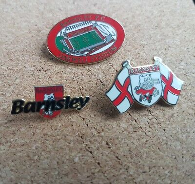 Barnsley   F c  -  3  Old   Football  Pin  Badges