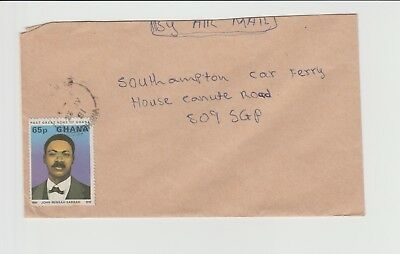 Ghana Small ordinary cover marked Airmail, needs rate checking to confirm