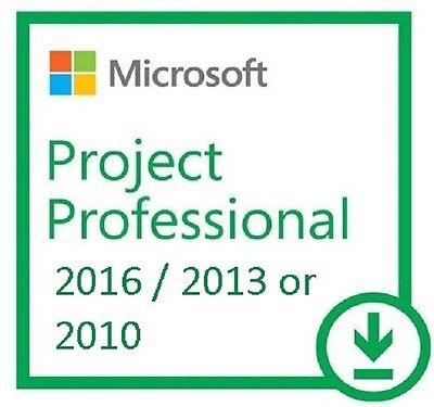 Genuine Product:~ Project 2016 / 2013 / 2010 Professional Full Version