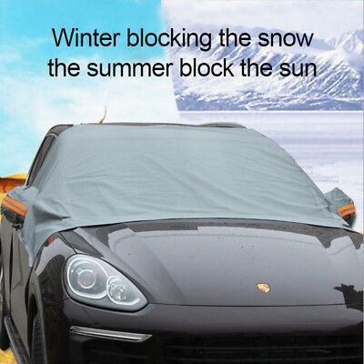 Gray Car SUV Magnet Windshield Cover Sun Shield Snow Frost Freeze Protector