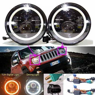 For Jeep Renegade/Patriot/Liberty LED Headlights 7'Inch Round Projector DRL Lamp