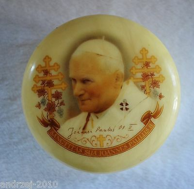 POP JOHN PAUL II - TOP LID HIS AUTOGRAPH - MADE in ITALY - ALABASTER  BOX